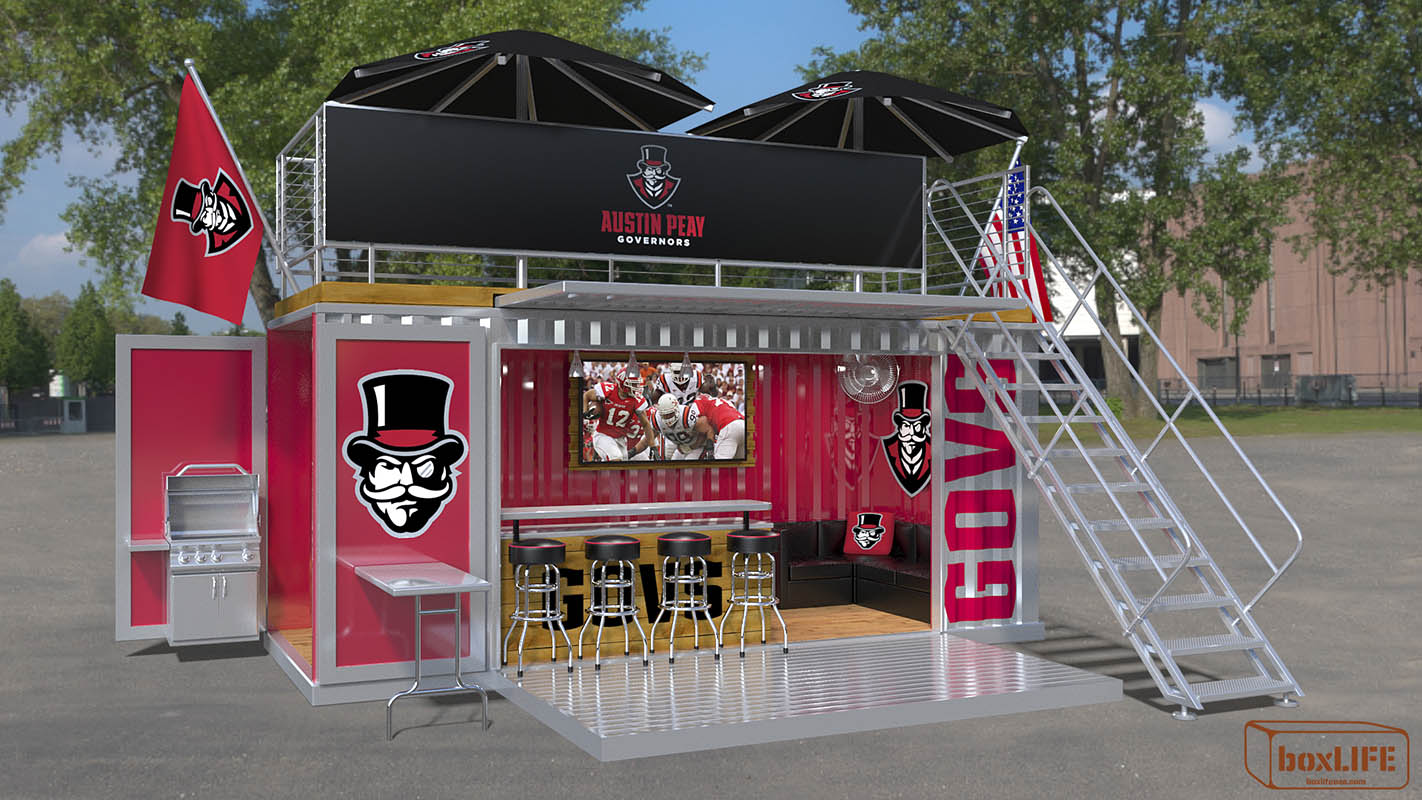 boxGATE suites available at Raymond C. Hand Park for the 2018 Austin Peay Baseball season. (APSU Sports Information)