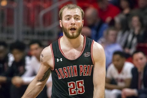 Austin Peay Men's Basketball junior point guard Zach Glotta scored 19 points in victory over Southeast Missouri Saturday. (APSU Sports Information)