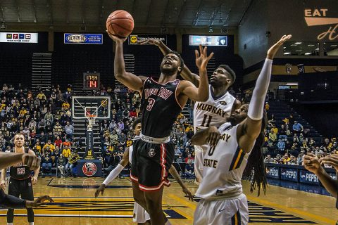 Austin Peay Men's Basketball falls at Murray State 84-63 Thursday night at the CFSB Center. (APSU Sports Information)