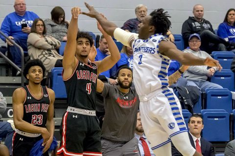 Austin Peay Men's Basketball gets 76-69 win at Eastern Illinois, Saturday. (APSU Sports Information)