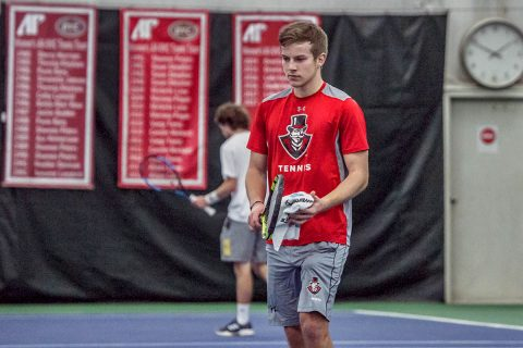 Austin Peay Men's Tennis beats Southern Indiana 6-3 Friday in Evansville. (APSU Sports Information)