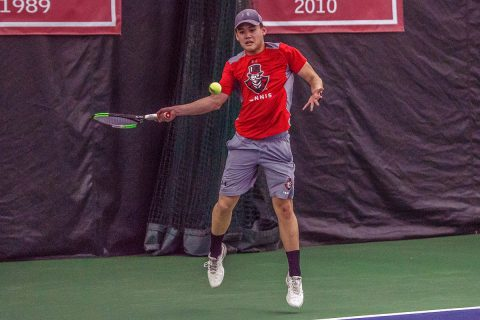 Austin Peay Men's Tennis loses to Vanderbilt in Nashville, Saturday. (APSU Sports Information)