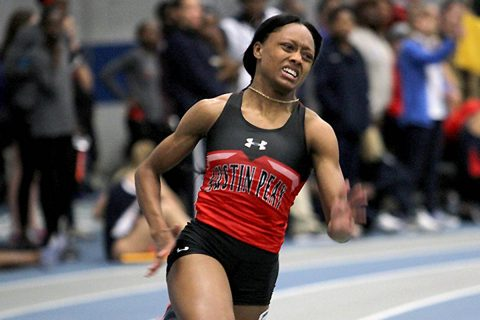 Austin Peay Track and Field currently in fifth place at OVC Indoor Track and Field Championships. (APSU Sports Information)