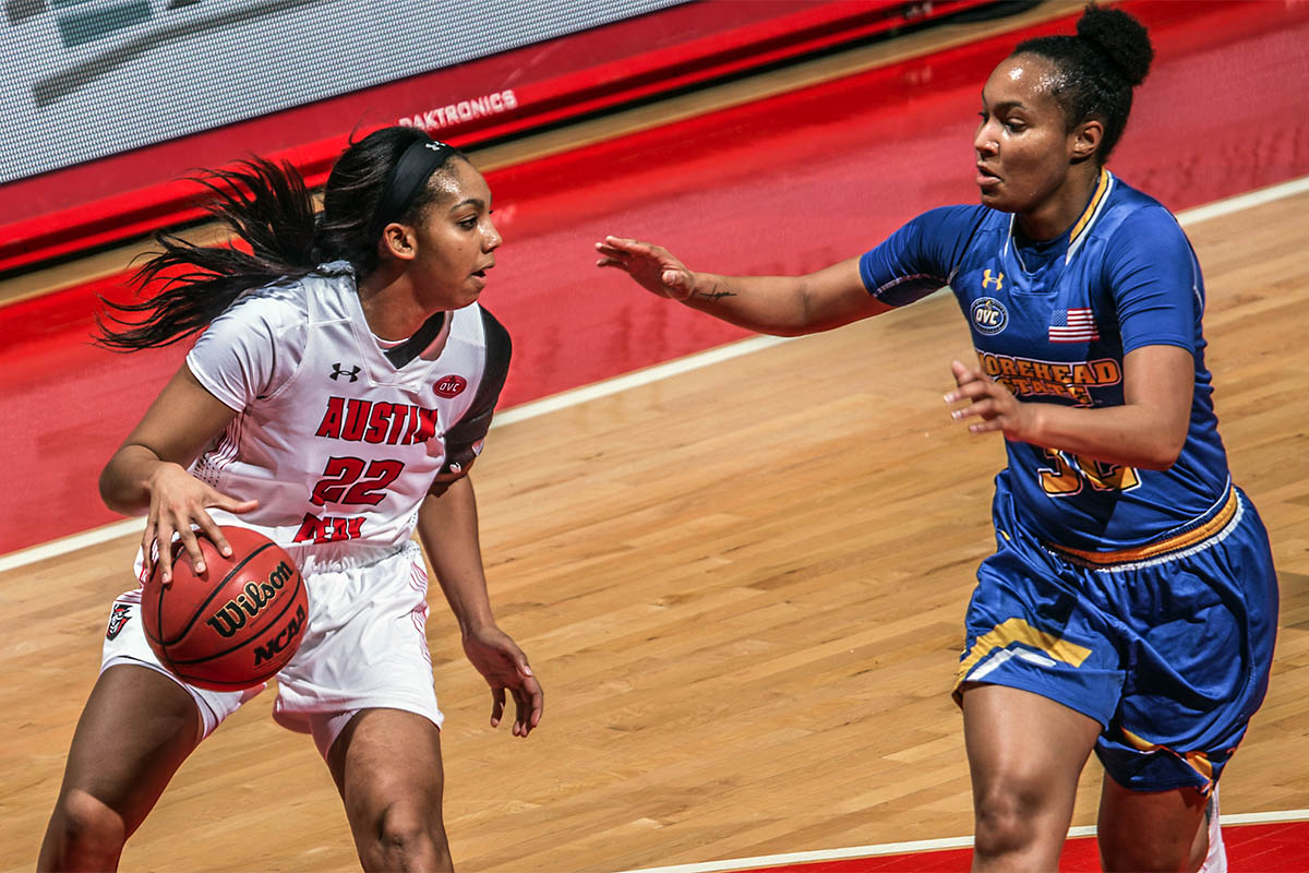 Austin Peay Women's Basketball heads to Murray to take on the Racers, Thursday. (APSU Sports Information)