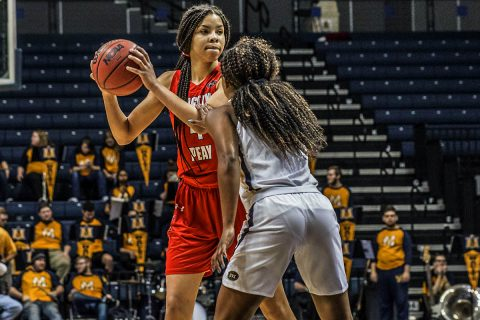 Austin Peay Women's Basketball unable to contain hot shooting Murray State Thursday afternoon. (APSU Sports Information)