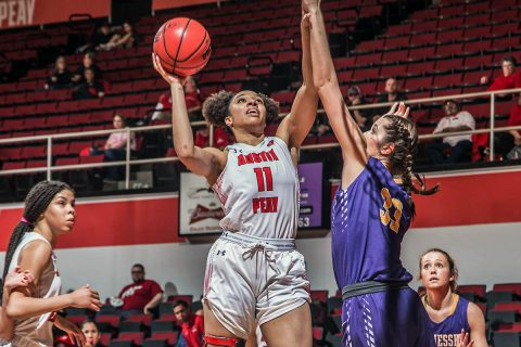 Austin Peay Women's Basketball heads to SIU Edwardsville looking to maintain position for OVC Tournament. (APSU Sports Information)