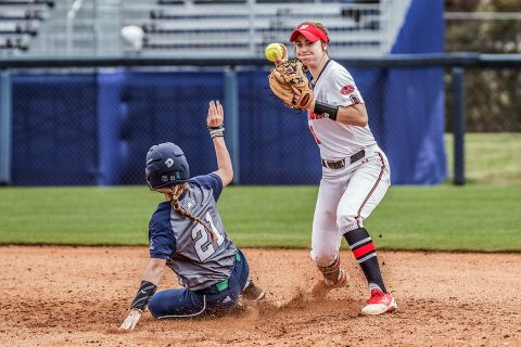 Austin Peay Softball falls to Georgia Southern 4-2 Sunday at the Eagle Round Robin Tournament. (APSU Sports Information)