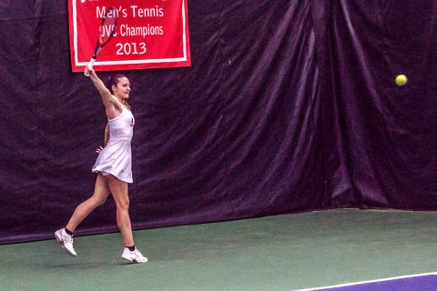 Austin Peay Women's Tennis beats IUPUI Saturday at the Governors Indoor Tennis Center. (APSU Sports Information)