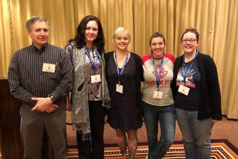 Austin Peay State University students give presentations at Biennial Phi Alpha Theta National History Conference.