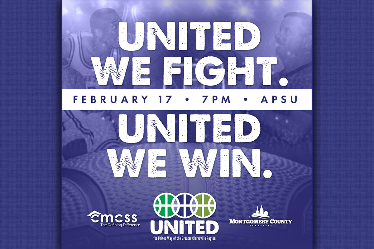 Clarksville-Montgomery County Schools and Montgomery County Government team up for United Way on Saturday, February 17th, at APSU.