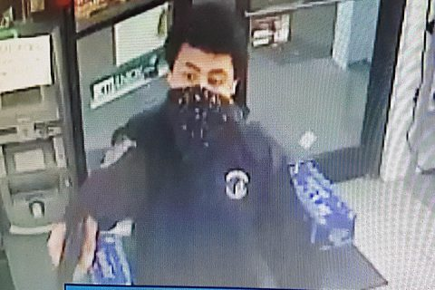 Clarksville Police are looking for the man in this photo for the robbery of a store on College Street.