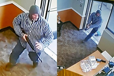 Clarksville Police are looking for the man in these photos for the robbery of Harris Pharmacy on Fort Campbell Boulevard, Monday.