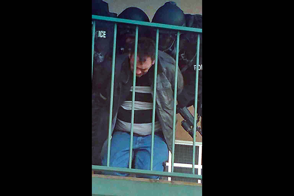 Bank of American robbery suspect Mike Rollins was taken into custody by Clarksville Police early Friday morning. (Jim Knoll, Clarksville Police)