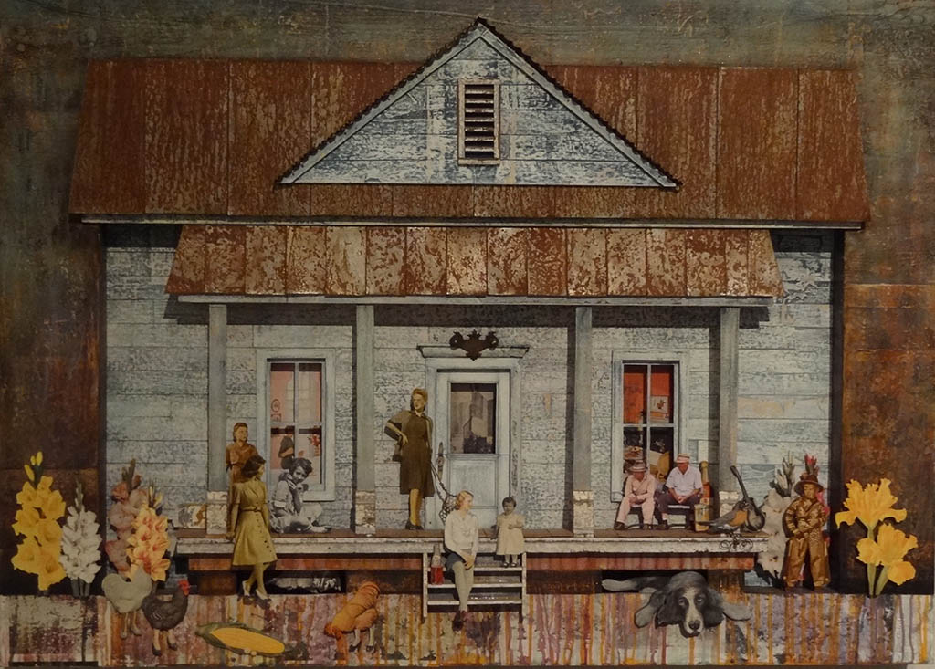 The Mixed Media Art of Sloane Bibb on display at the Customs House Museum.
