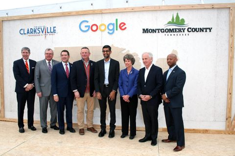 Groundbreaking ceremony for Google's Data Center in Clarksville.