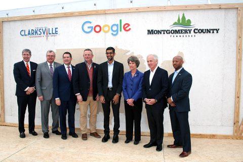 Groundbreaking ceremony for Google's Data Center in Clarksville.