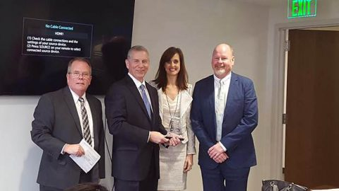Members of the United Ways of Tennessee. (L to R) Ben Landers, United Way of Tennessee Board Chair; State Representative Joe Pitts, Ginna Holleman; President of United Ways of Greater Clarksville, and Garrett Ladd III; Board Chair of United Way of Greater Clarksville Region.