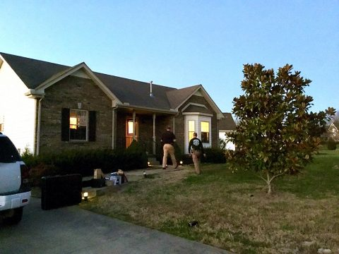Montgomery County Sheriff's Deputies attempting to serve a search warrant on Ashley Cantry at 3317 Marrast Drive.