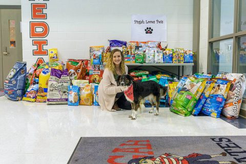 """Pisgah Loves Pets"" food drive raises 2,069 pounds for local animal shelters."