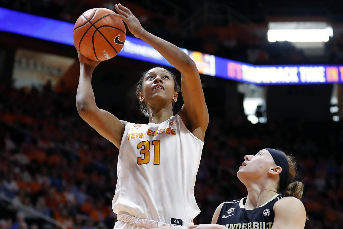 Tennessee Women's Basketball senior Jaime Nared led the Lady Vols scoring 30 points against Vanderbilt Sunday. (Tennessee Athletics)