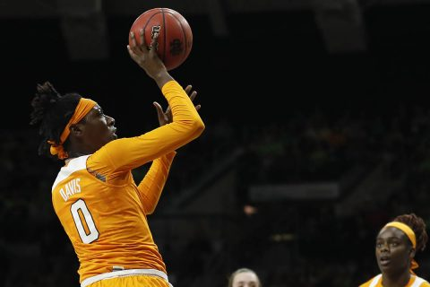 Tennessee Women's Basketball freshman Rennia Davis scores career high 33 points and has 14 rebounds in win over Arkansas Thursday night. (Tennessee Athletics)