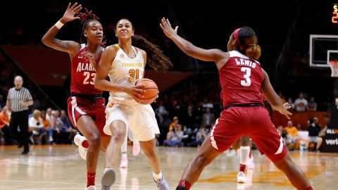 Tennessee Women's Basketball senior Jaime Nared scored 22 points and had 7 rebounds in loss to Alabama Thursday night. (Tennessee Athletics)