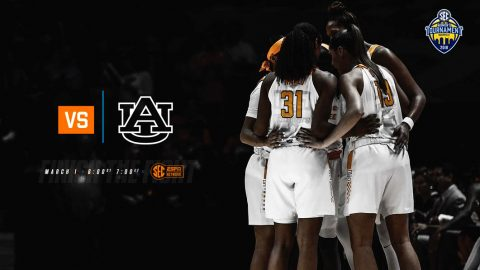 Tennessee Women's Basketball plays Auburn at Bridgestone Area in SEC Tournament action, Thursday. (Tennessee Athletics)