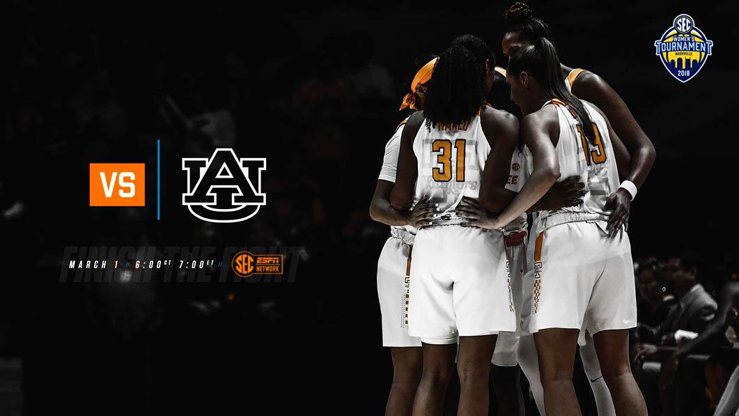 Tennessee Women's Basketball plays Auburn at Bridgestone Area in SEC Tournament action, Thursday. (Tennessee Athletics)