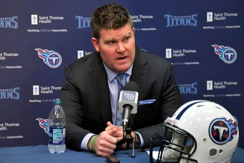 Tennessee Titans general manager Jon Robinson. (Jim Brown-USA TODAY Sports)