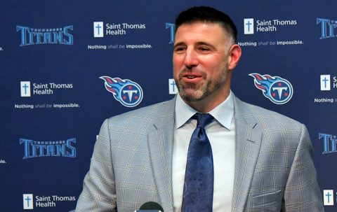 New Tennessee Titans head coach Mike Vrabel. (Jim Brown-USA TODAY Sports)