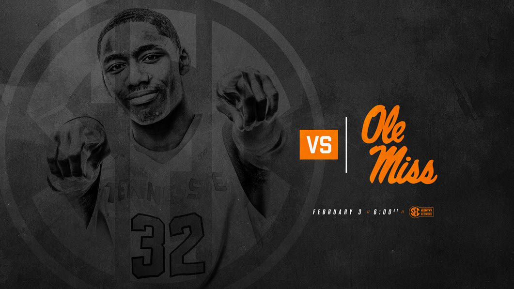 Tennessee Men's Basketball plays Ole Miss Saturday at Thompson-Boling Arena. Tip off is at 5:00pm CT. (Tennessee Athletics)
