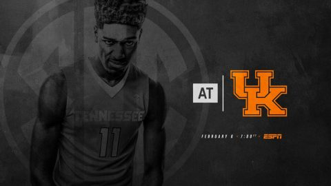 Tennessee Men's Basketball plays Kentucky in Lexington, Tuesday. Tip off is at 6:00pm CT. (Tennessee Athletics)