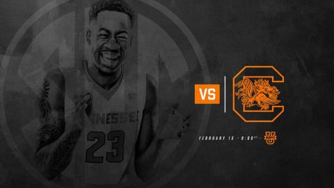 Tennessee Men's Basketball plays South Carolina Tuesday night at Thompson-Boling Arena. Tip off is at 8:00pm CT. (Tennessee Athletics)