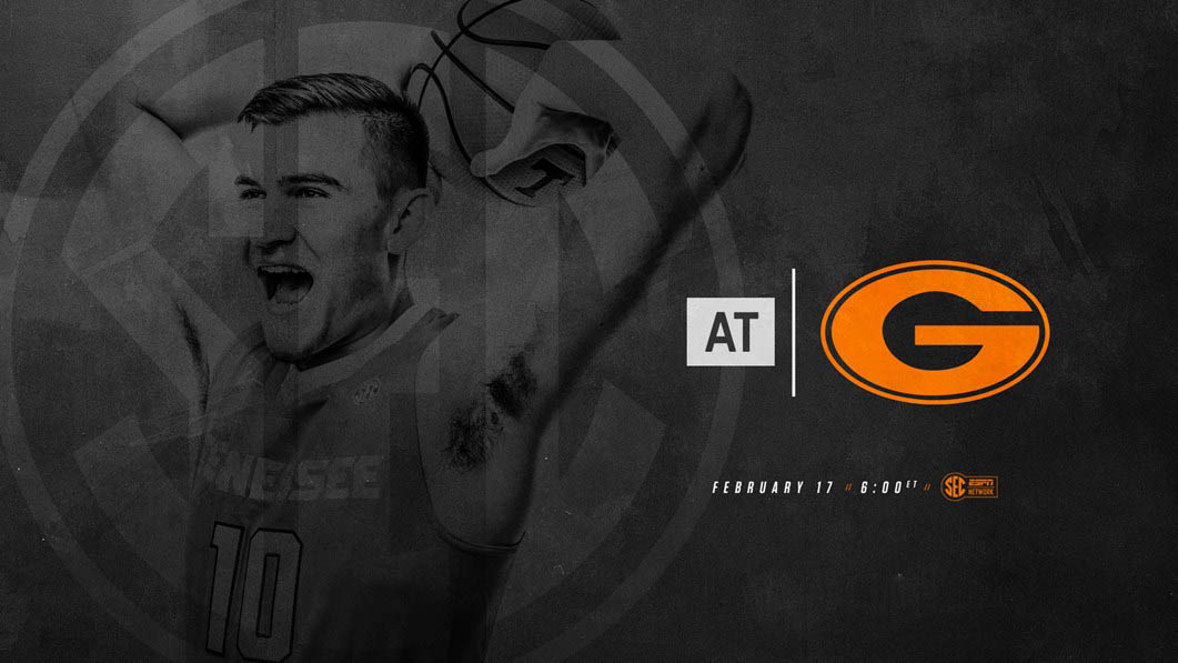 Tennessee Men's Basketball travels to Georgia Saturday to take on the Bulldogs. Tip off is at 5:00pm CT. (Tennessee Athletics)