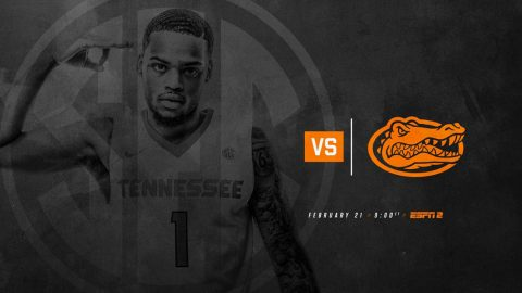 Tennessee Men's Basketball hosts the Florida Gators Tuesday night at Thompson-Boling Arena. Tip off is at 8:00pm CT. (Tennessee Athletics)
