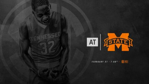 Tennessee Men's Basketball travels to Mississippi State, Tuesday. Tip off is at 6:00pm CT. (Tennessee Athletics)