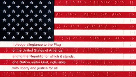 The United States of America Braille Flag
