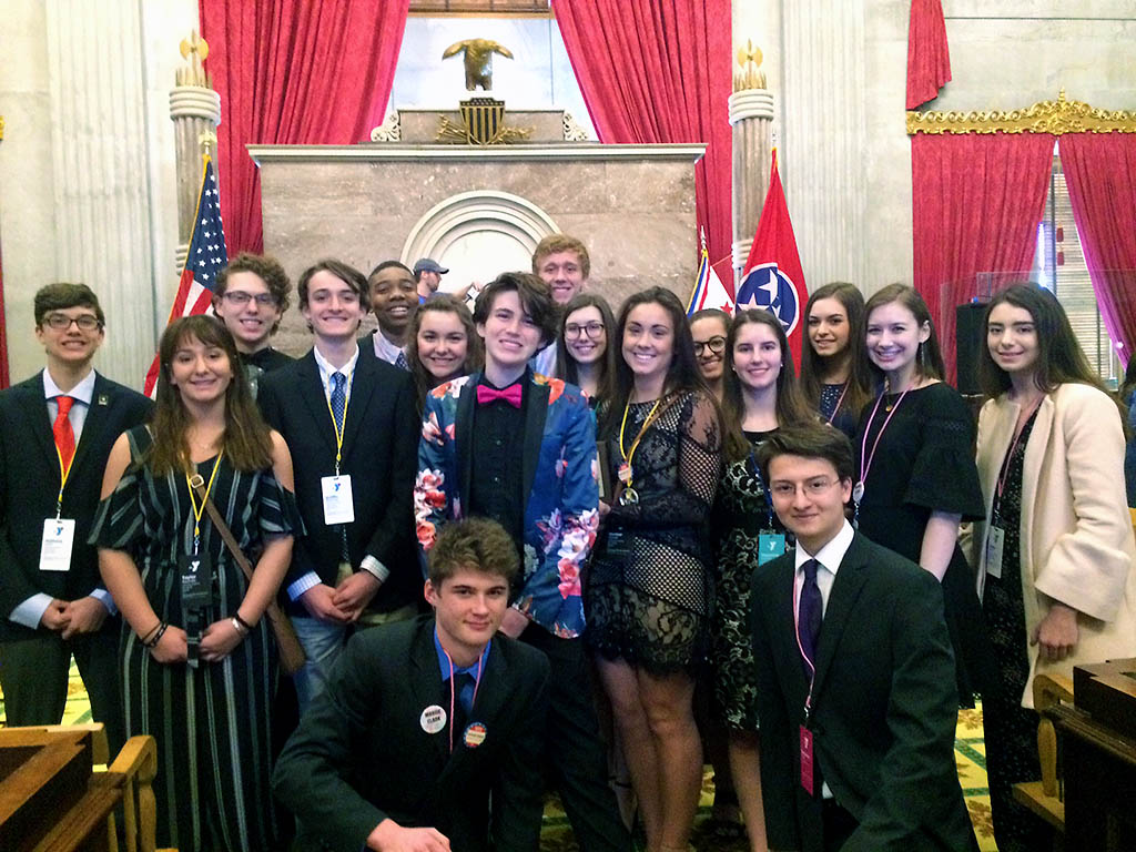 Part of the Clarksville Academy group after Government Day.