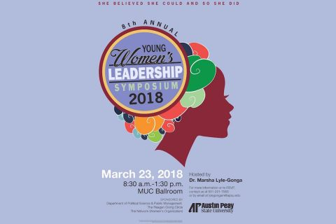 8th Annual Young Women's Leadership Symposium to be held at APSU, March 23rd.