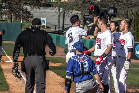 Austin Peay Baseball gets 8-7 win over Indiana State at Raymond C. Hand Park, Saturday. (APSU Sports Information)