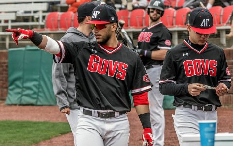 Austin Peay Baseball gets 6-4 win over Jacksonville State at Choccolocco Park, Saturday. (APSU Sports Information)