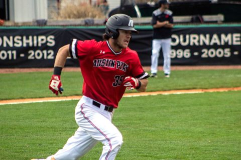 Austin Peay Baseball junior Garrett Giovannelli had three hits in loss to Southeast Missouri at Raymond C. Hand Park, Saturday. (APSU Sports Information)