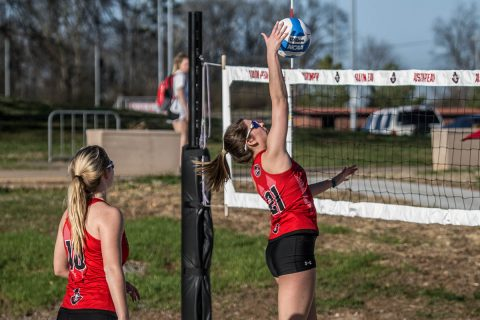 Austin Peay Beach Volleyball gets 3-2 win over Lincoln Memorial University then that afternoon, the Govs beat Huntingdon College 5-0. (APSU Sports Information)