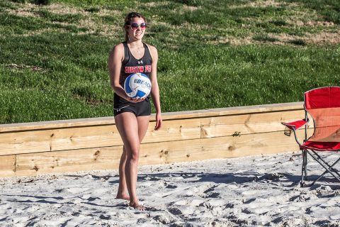 Austin Peay Beach Volleyball take on Tulane Friday afternoon at the Blazer Beach Duals. (APSU Sports Information)