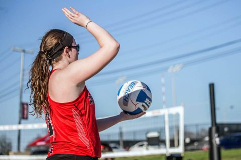 Austin Peay Beach Volleyball splits matches Friday at New Orleans Invitational. (APSU Sports Information)