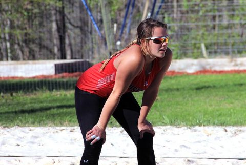 Austin Peay Beach Volleyball unable to get on track against Spring Hill, Sunday. (APSU Sports Information)