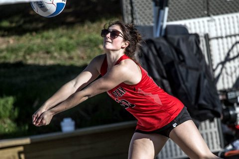 Austin Peay Beach Volleyball loses 5-0 to Tulane at the Blazer Beach Duals, Friday. (APSU Sports Information)