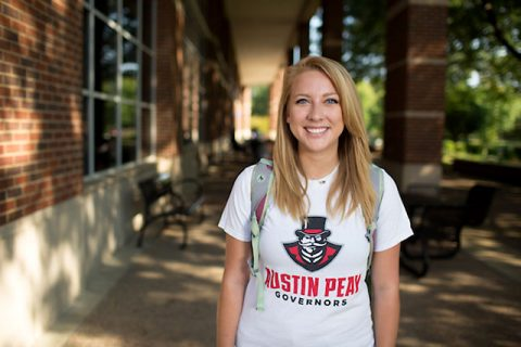 APSU English major Madison Hobson