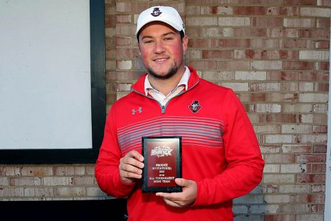 Austin Peay Men's Golf freshman Jay Fox gets runner-up award at Phoenix Invitational. (APSU Sports Information)
