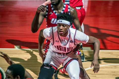 Austin Peay Men's Basketball lose to UIC 83-81 in the CollegeInsider.com Tournament quarterfinals Wednesday night at the Dunn Center. (APSU Sports Information)